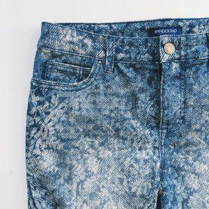 Bandolino High Waist Mandie Pattern Capri Jeans 6